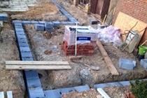 Top Barn foundations